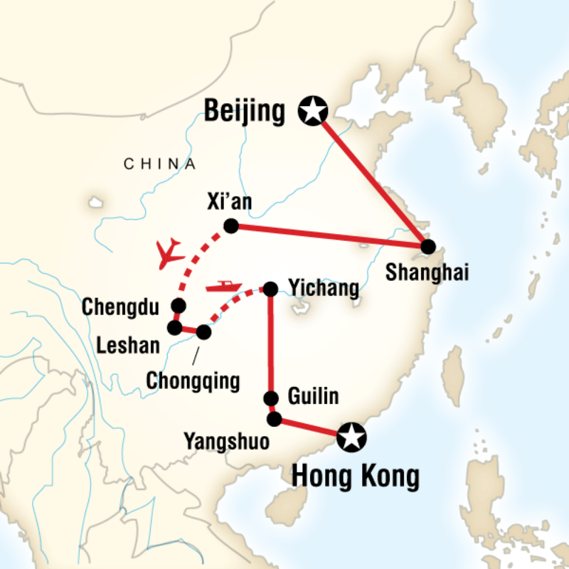 Essential China Trip Map