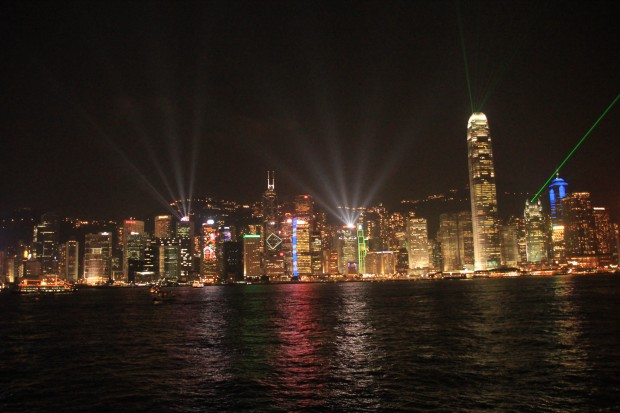 Symphony of Lights, Hongkong Skyline at night
