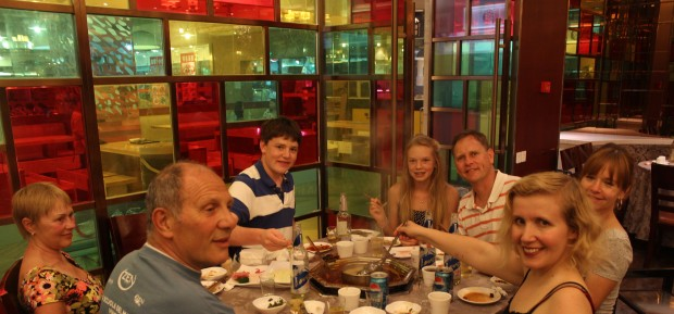 Enjoying a spicy and delicious Sichuan Hot Pot dinner in Chongqing