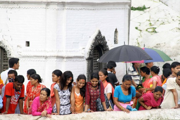 Nepali Women at the Pashupatinath temple on the banks of the Bagmati river