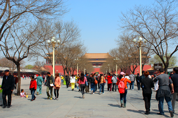 A sustained path leads onto the Meridian Gate (Wu Men), to entrance to the actual imperial palace