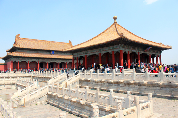 The Hall of Middle Harmony and the Hall of Preserving Harmony behind