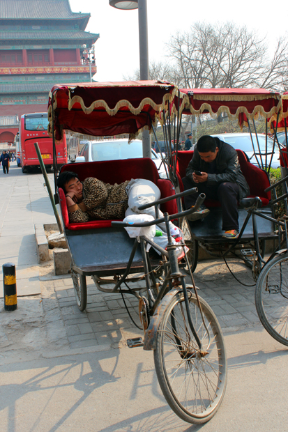 Cycle Rickshaw drivers are taking a rest