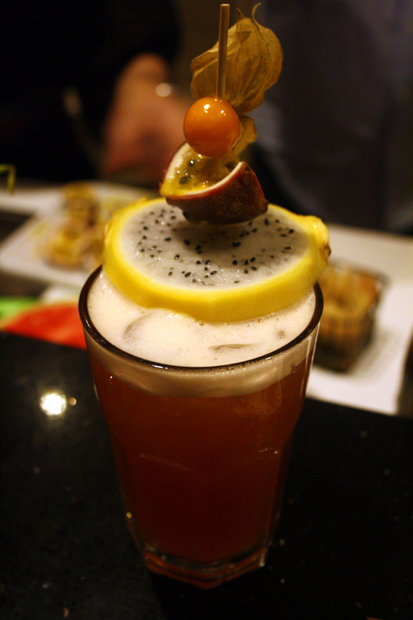 """Tropical Andaluz"" prepared in a Cocktail Course in Germany"