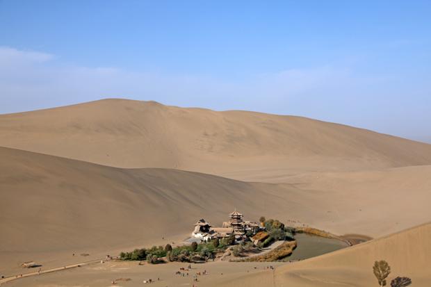 Crescent Lake Mingsha Sand Dunes