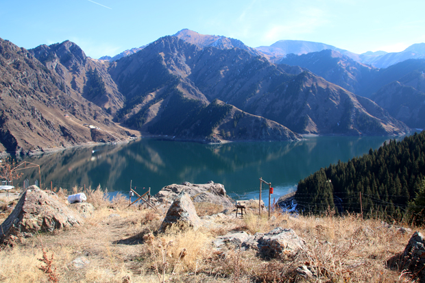 Tian Shan Mountains Heavenly Lake China