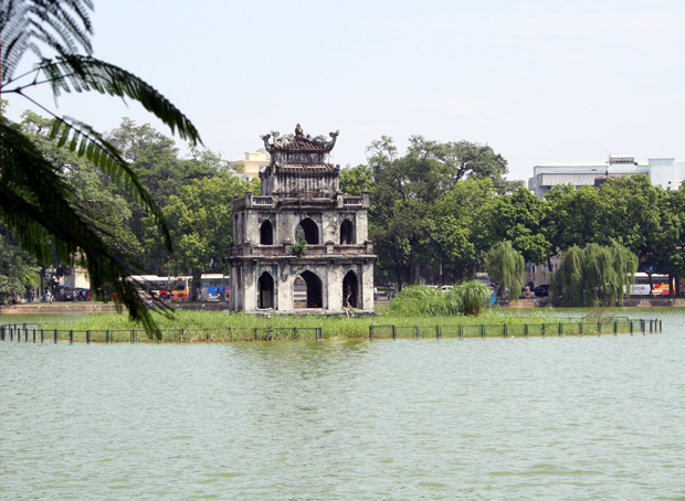 Hoan Kiem Lake Turtle Tower Hanoi Vietnam