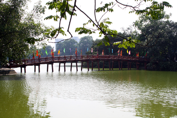 The Huc Bridge Hanoi Vietnam
