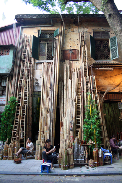 Bambusgasse Altstadt Hanoi Vietnam