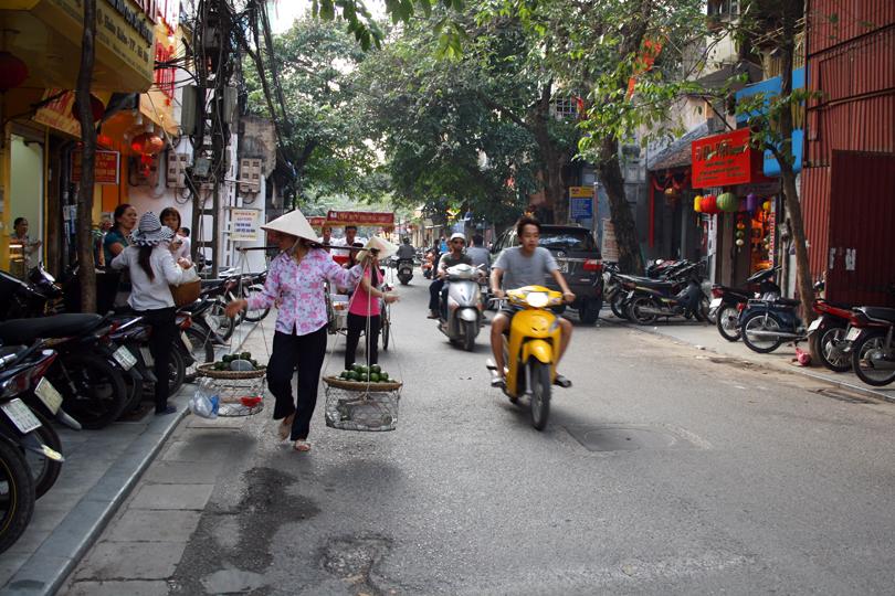 Street Vendour Old Quarter Hanoi Vietnam