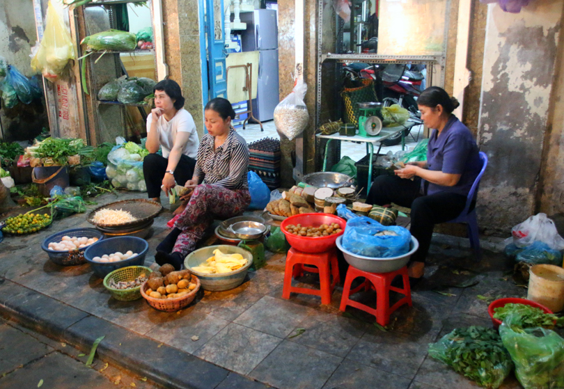 Local Residents Old Quarter Hanoi Vietnam