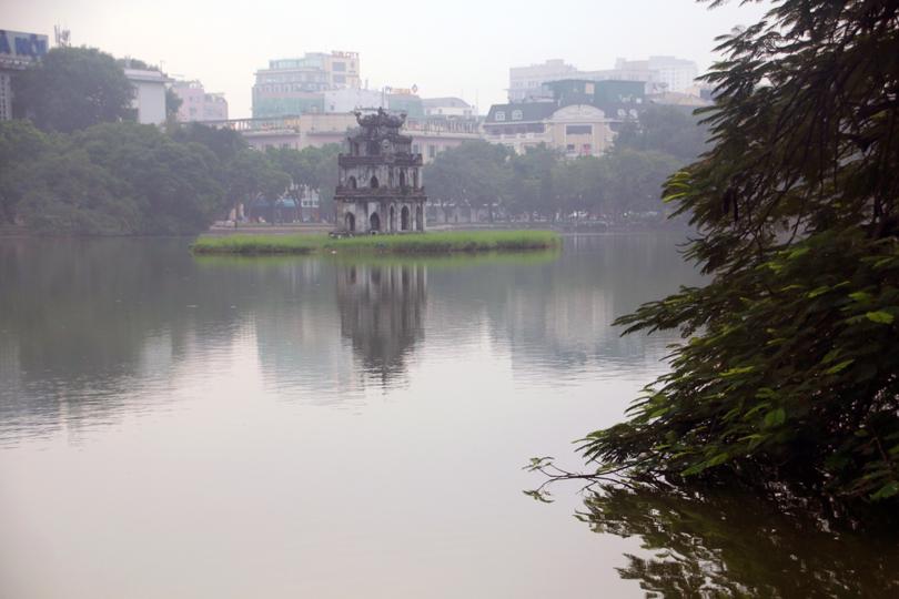 Hoan-Kiem-See Schildkrötenturm Hanoi Vietnam