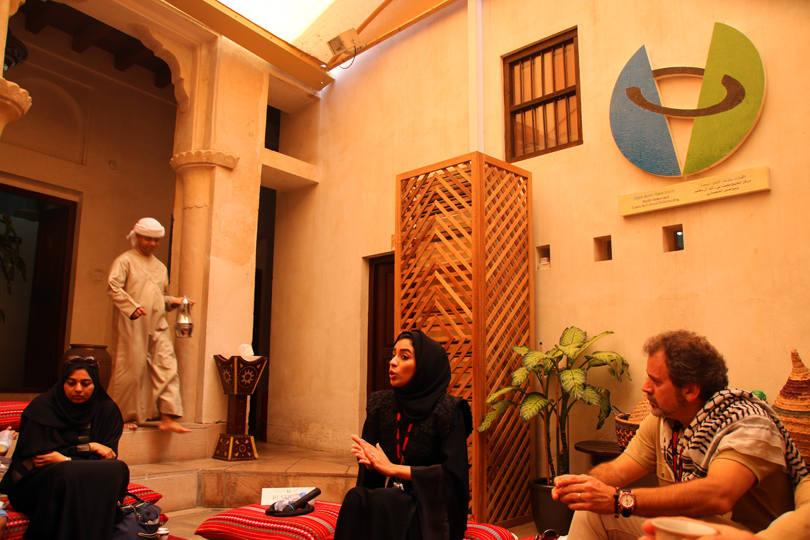Arabian Coffee and Dates in the Sheikh Mohammed Centre after the tour