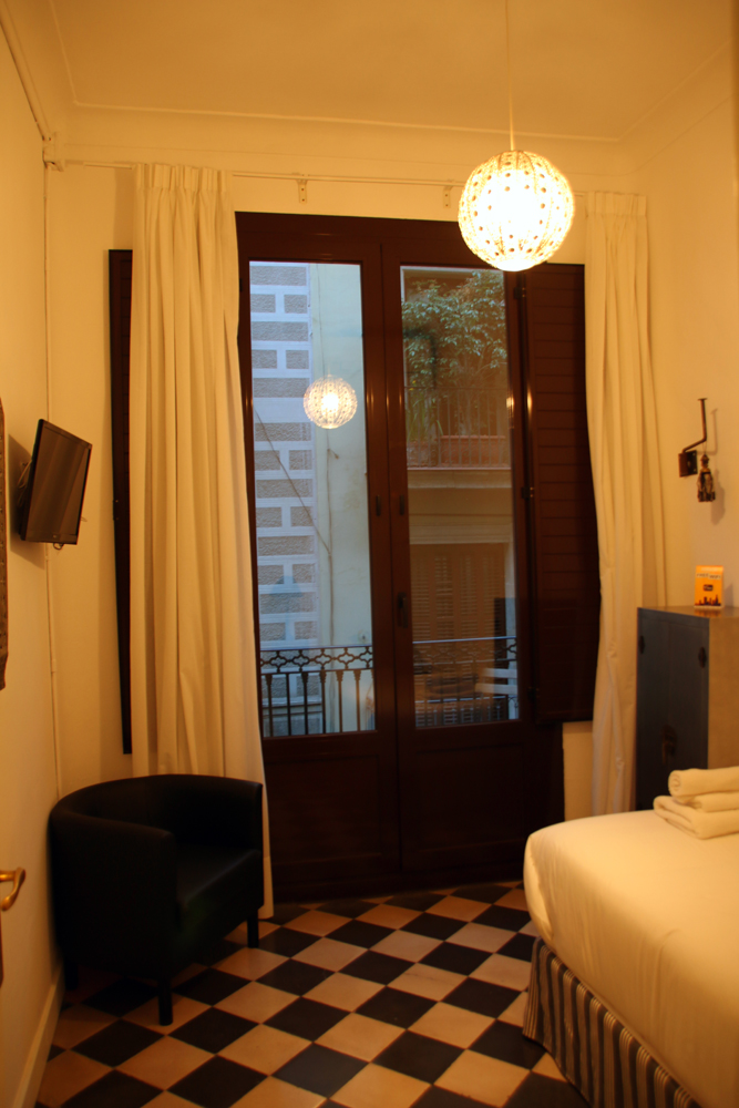 My hotel room Barcelona Spain