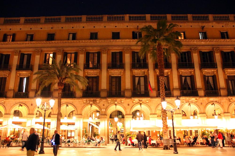 Placa Reial Gothic Quarter Barcelona Spain