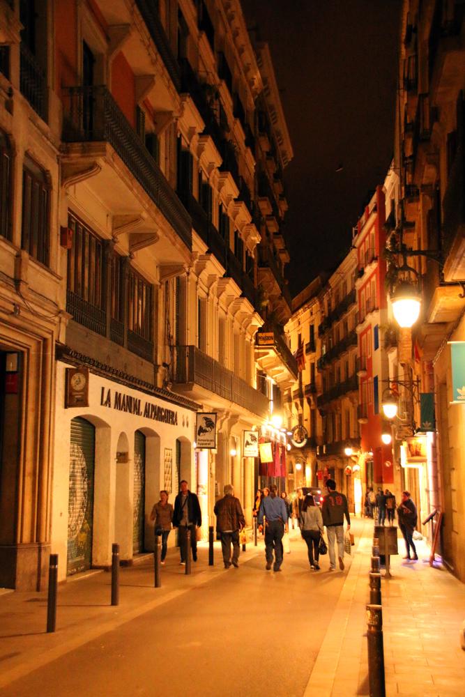 Gassen Gothisches Viertel Barcelona Spanien