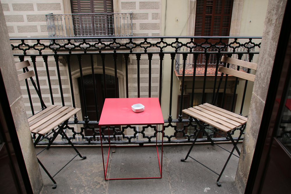 Mein Hotelzimmer mit eigenem Balkon Barcelona Spanien