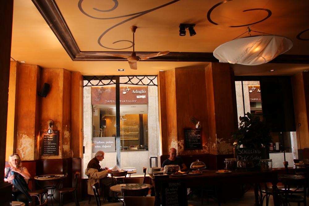 Spanisches Café Barcelona Spanien