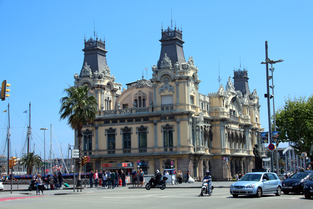 Harbour buildings Barcelona Spain