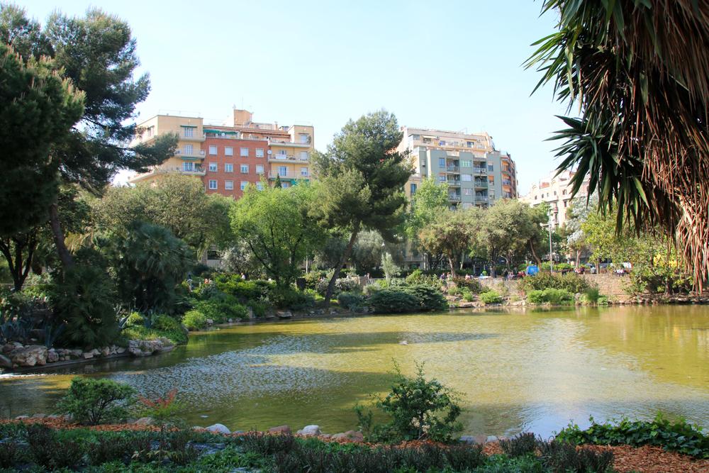 Park Sagrada Familia Barcelona Spanien