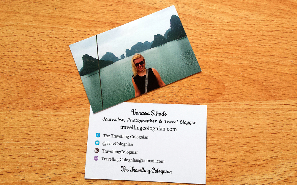 My Travel Blog Business Cards