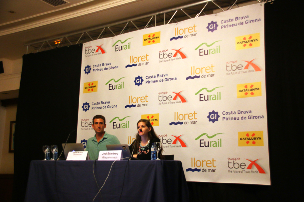 Jodi Ettenberg Derek Baron TBEX Europe 2015 Lloret de Mar Costa Brava Spain