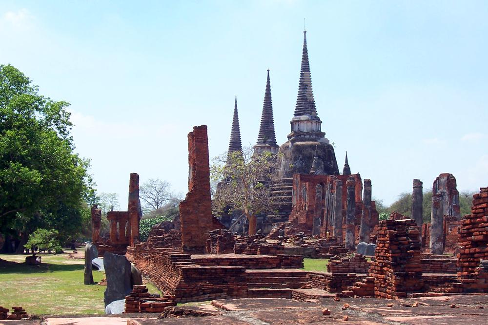 Wat Phra Si Sanphet Ayutthaya Tempel von Ayutthaya Thailand
