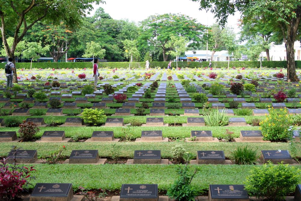 Don Rak War Cemetry Kanchanaburi Thailand