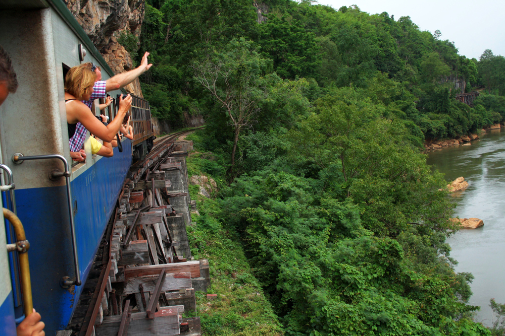 Train Ride along the river Nam Tok Kanchanaburi Thailand Asia
