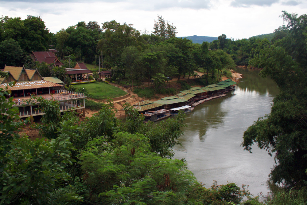 Train Ride along the river Nam Tok Kanchanaburi Thailand Asia
