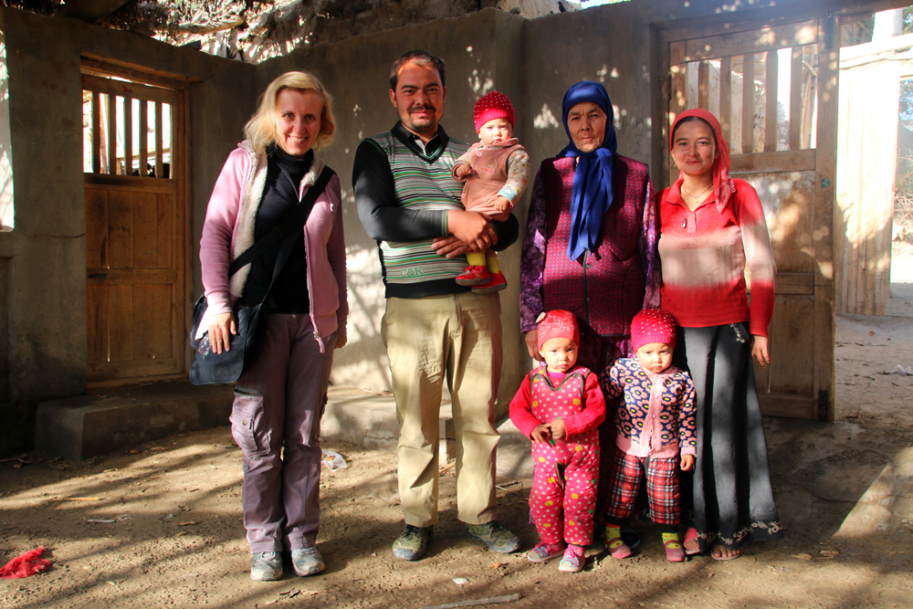 Uyghur Family Hotan China Asia