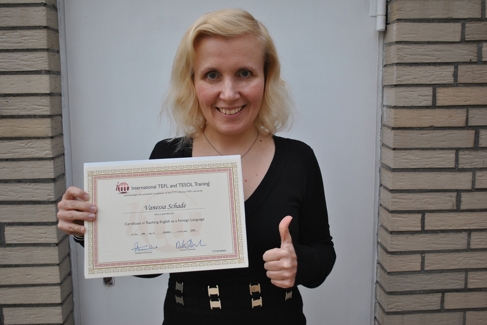 I finally got my TEFL certificate