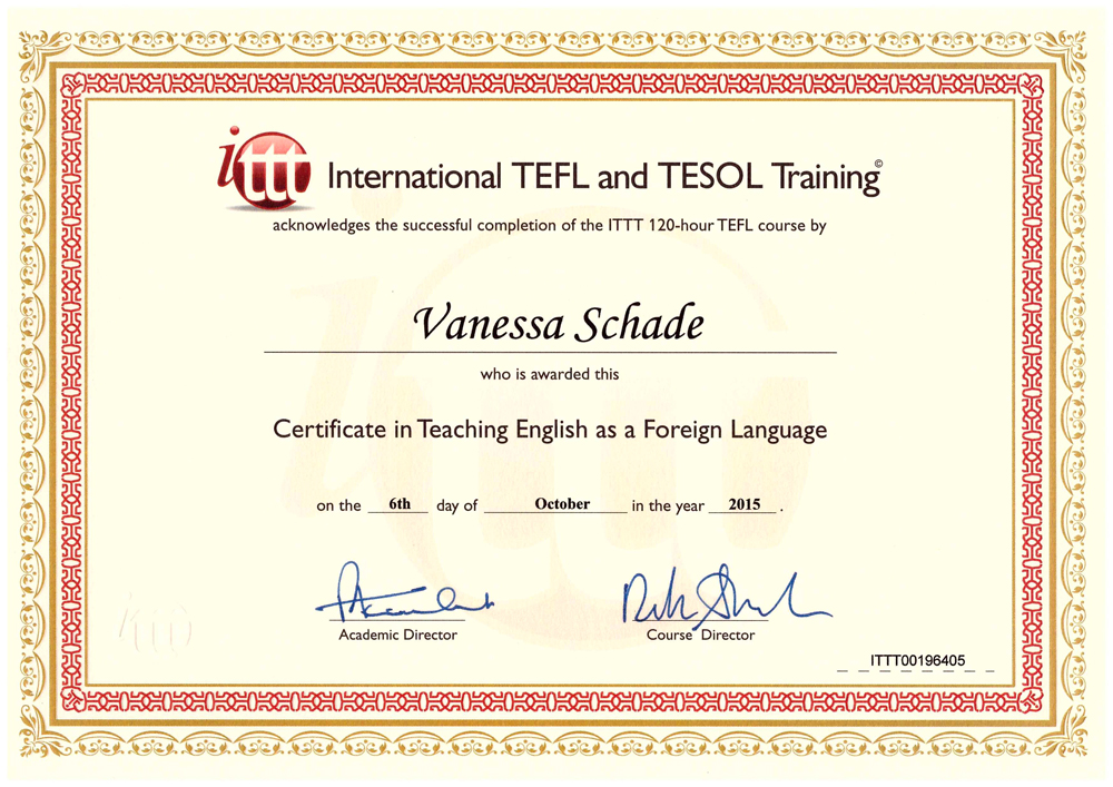 i finally got my tefl certificate | the travelling colognian