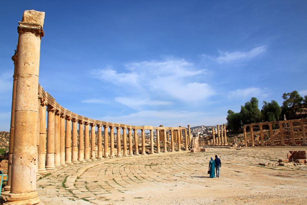 Greco-Roman ruins Jerash Jordan