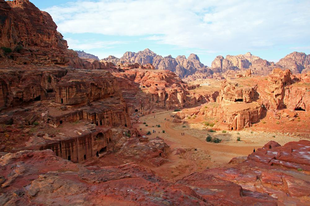 Sanstone city Petra Wadi Musa Jordan