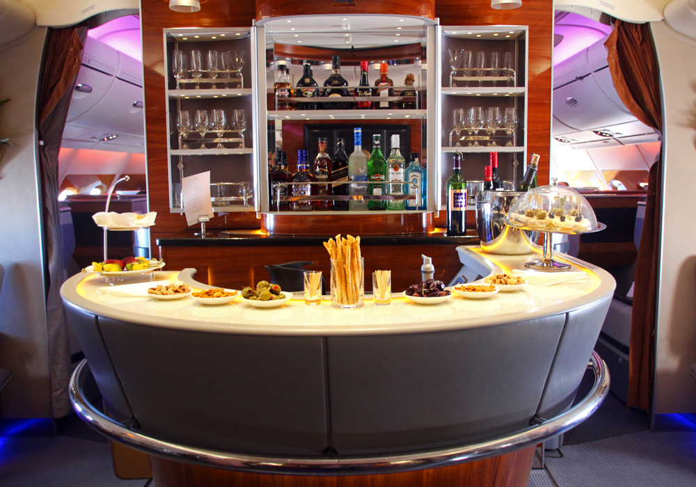 Bar Emirates Business Class A 380