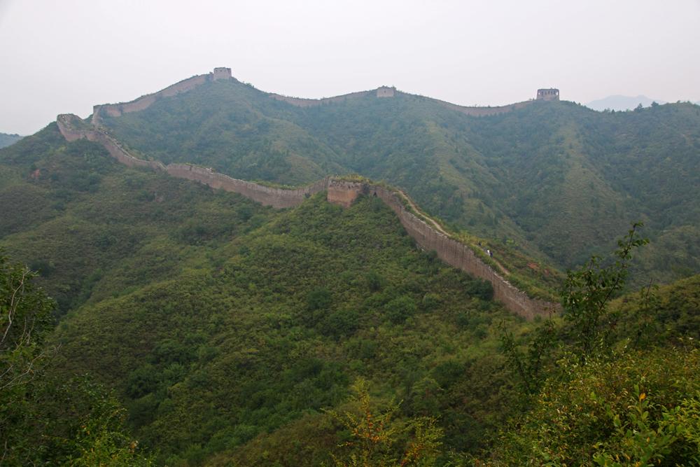 Panorama Chinesische Mauer Gubeikou Miyun Heibei Peking China Asien