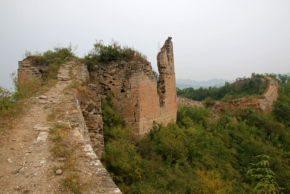 Ruin of a watch tower Gubeikou Great Wall Miyun Hebei Beijing China Asia