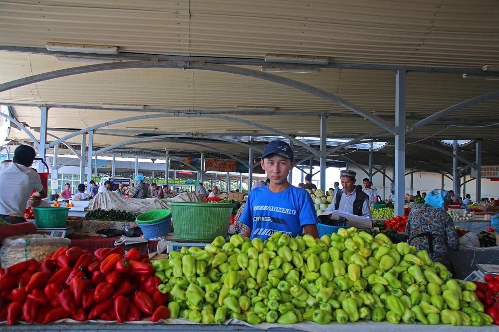 Höhepunkte von Taschkent Händler im Chorsu Basar