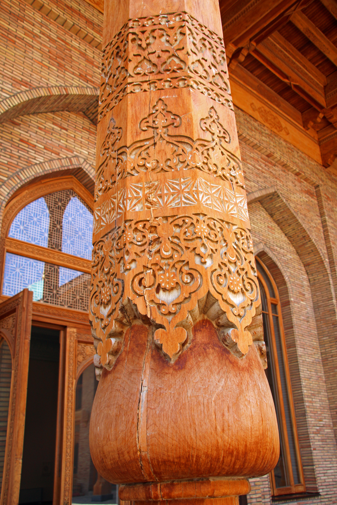 Höhepunkte von Taschkent Säule in der Moschee Hasrati Imam