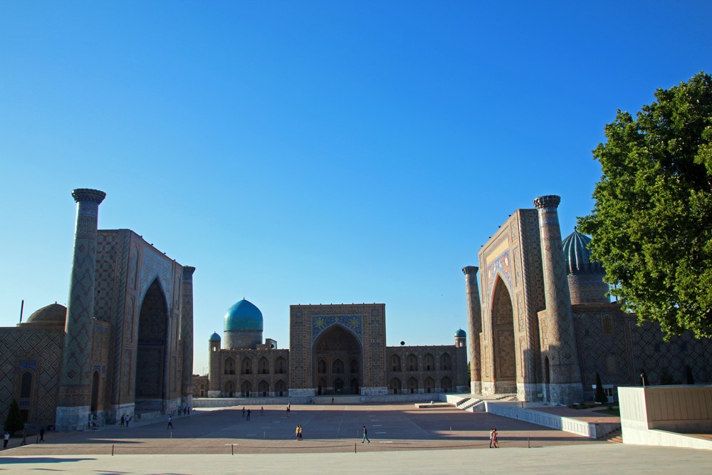 Travel blogger review 2016 - The Registan in Samarkand, Usbekistan