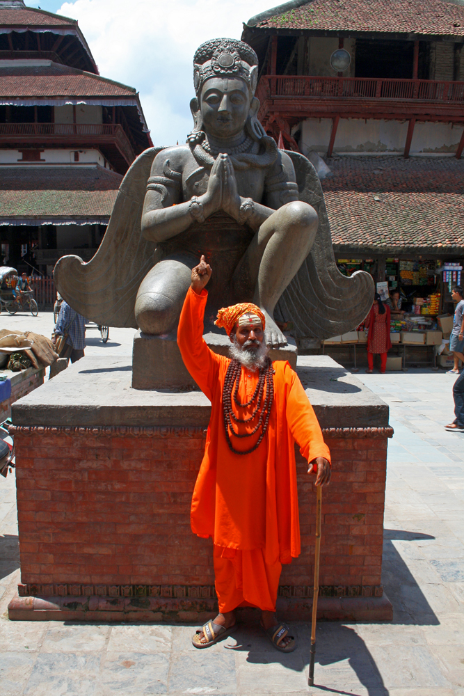 Travel bloggers tips for Bhutan - Sadhu at the Durbar Square in Kathmandu