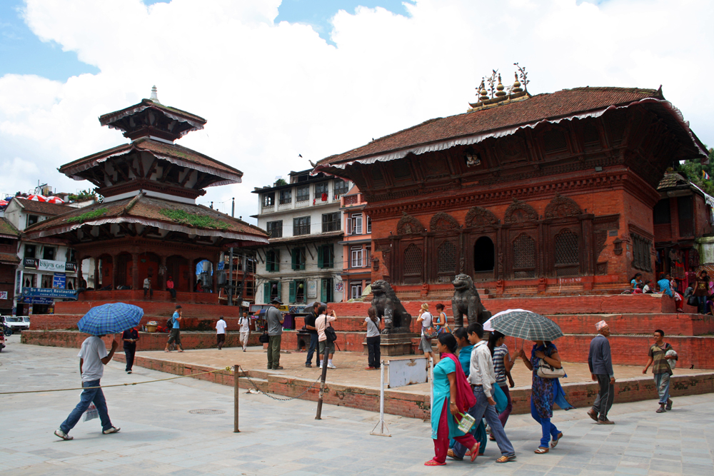 Travel bloggers tips for Bhutan - Durbar Square in Kathmandu in August 2010