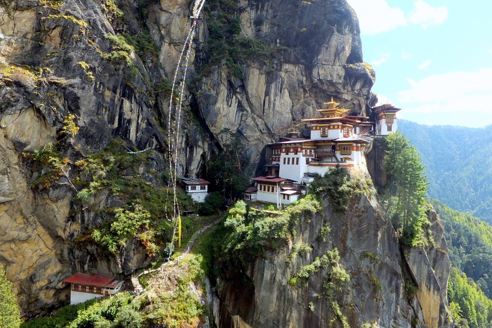 Travel bloggers tips for Bhutan - Cheeky Passports' photo from the Tiger's nest