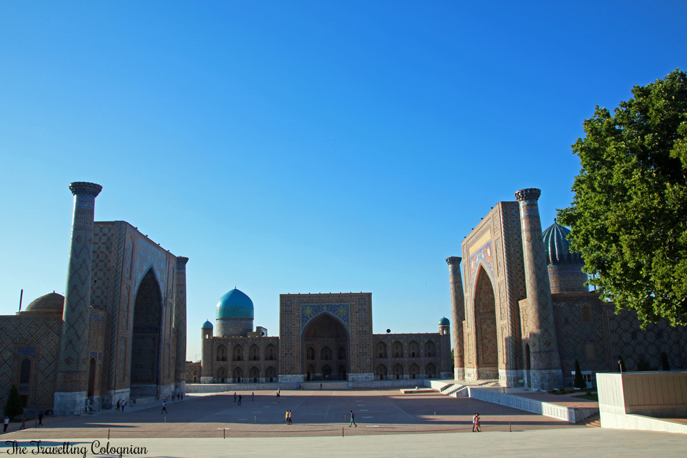 The Jewels of Samarkand - the Registan in the afternoon sun