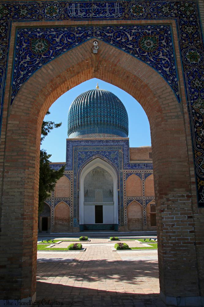 The Jewels of Samarkand - the Gur-E-Amir Mausoleum - the impressive entrance portal