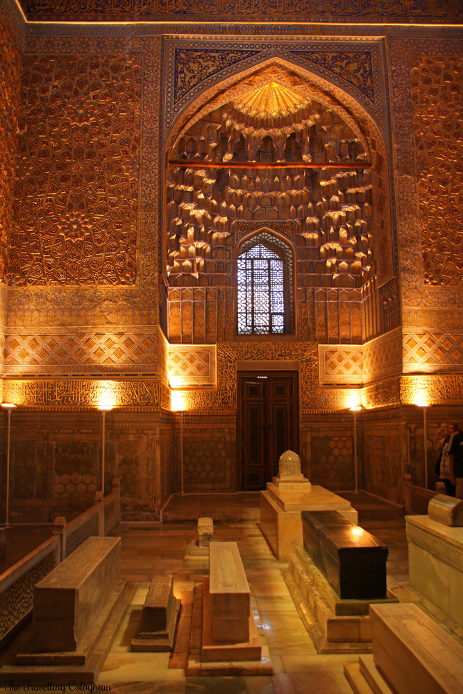 The Jewels of Samarkand - Gur-E-Amir Mausoleum - Cenotaphs in the golden interior