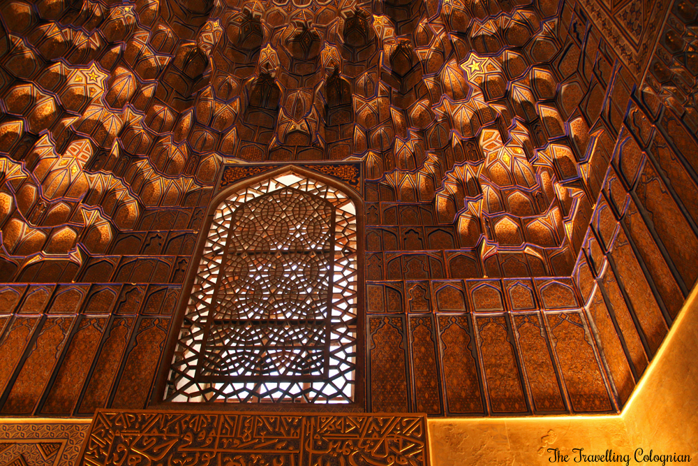 The Jewels of Samarkand - the Gur-E-Amir Mausoleum - the windows are surrounded with Muqarnas