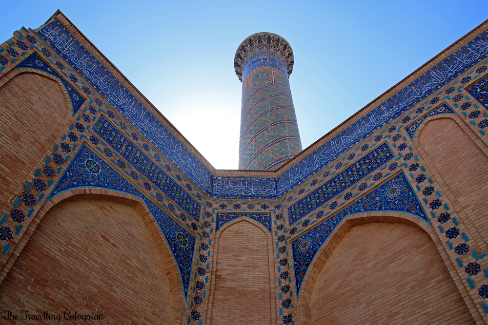 The Jewels of Samarkand - the Gur-E-Amir Mausoleum - minaret and decorations