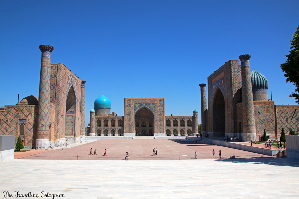 The Jewels of Samarkand - the Registan in the morning